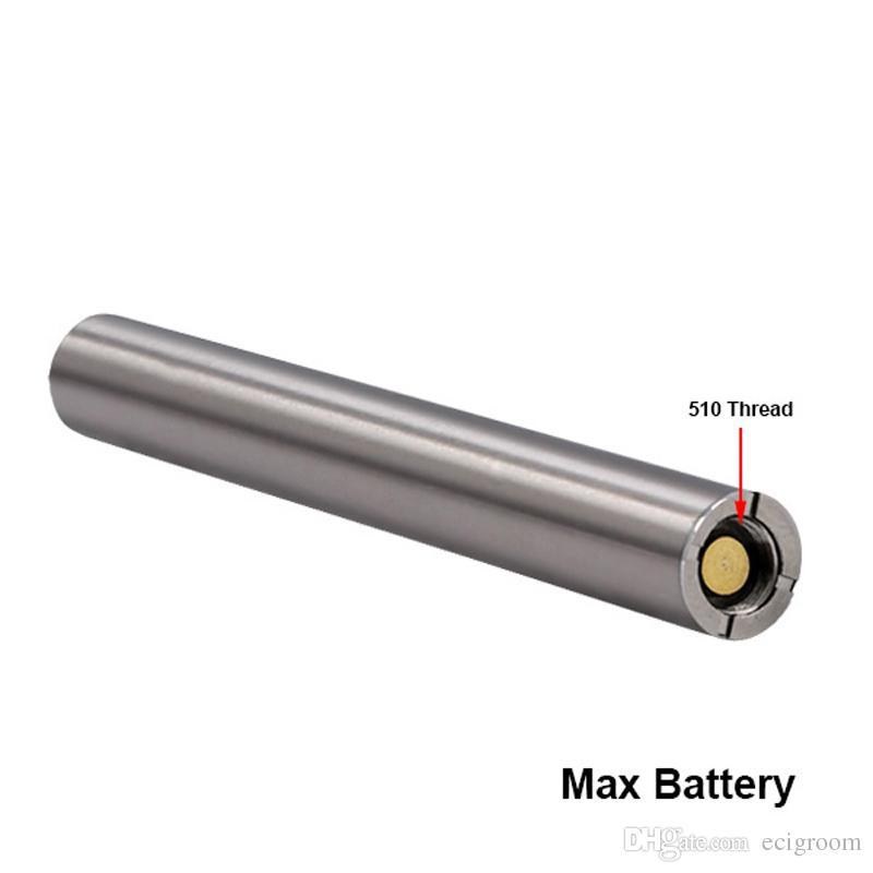 Os mais recentes Variável Max Pré-aqueça o VV Battery Voltage 380mAh Vape Battery 510 Tópico USB inferior Carregar baterias Bud bateria VS LO