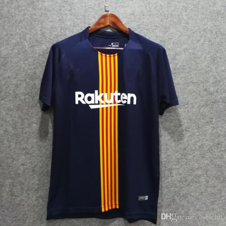 Perfecto 18 19 Camisetas De Fútbol De Barcelona Traje De Entrenamiento Ropa  De Fútbol Camisetas De Entrenamiento Messi SUAREZ VIDAL Camisetas De Fútbol  ... 43d3dc92c1e