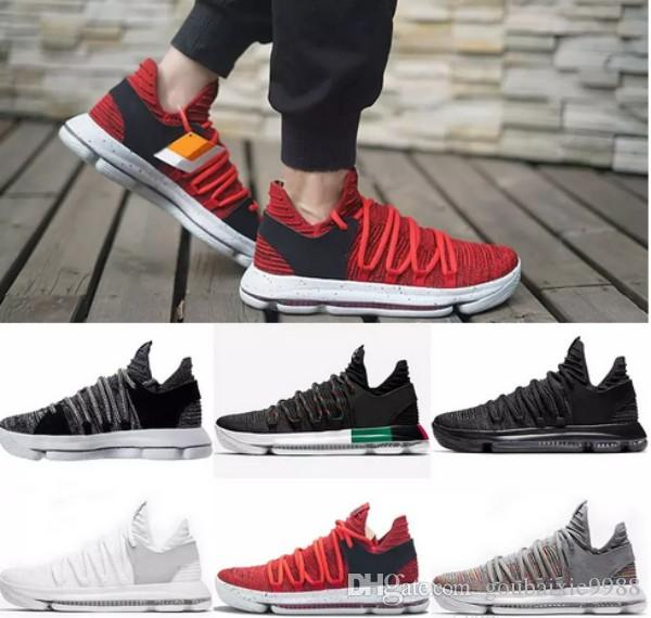 2d241fb669c1b8 2018 Chaussures 11 KD Mens Basketball Shoes KD 10 Sneakers Triple White BHM  Oreo Anniversary Elite Kevin Durant 10s Trainers Zapatos US 7 12 Comfort  Shoes ...