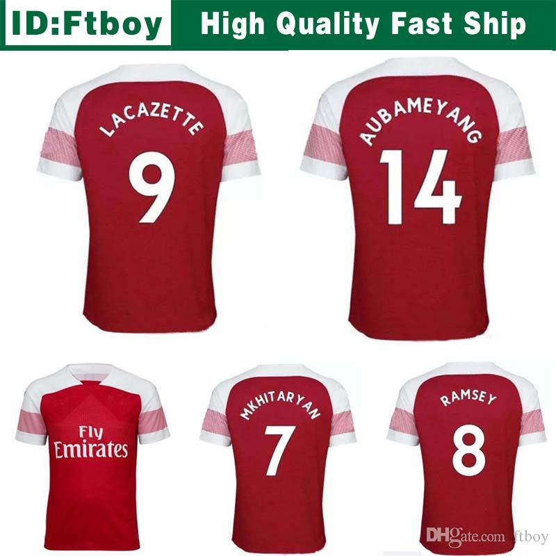Shoes Sword Art 2018 Arsenal Camisetas De Fútbol Casa 10 Ozil Lacazette 18  19 Aubameyang Ramsey Mkhitaryan Xhaka Camisetas De Fútbol Lejos De Calidad  De ... 483220324537a