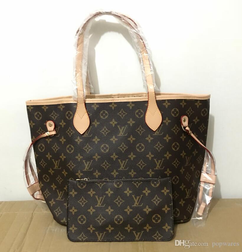 e4fcb80b214 New Luxury Women Never Full Shoulder Bags Women Designer Shopping Shoulder  Tote Bags Fashion Shopper Bags Women Checkerboard Crossbody Purse