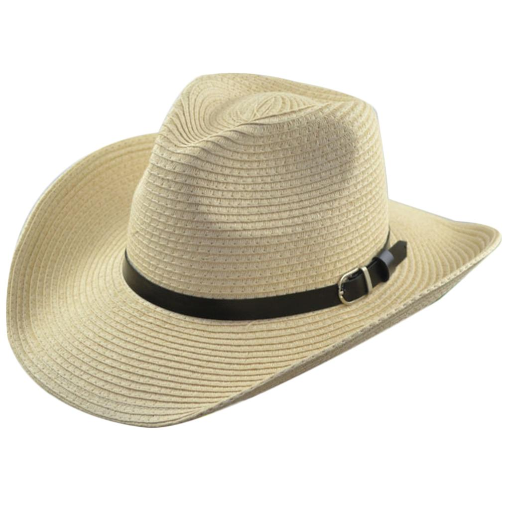 Hot Unisex Women Men Fashion Summer Casual Trendy Beach Sun Straw Panama  Jazz Hat Cowboy Fedora Hat Gangster Cap Fedora Hats For Men Cowgirl Hats  From ... 254eef9e86e6