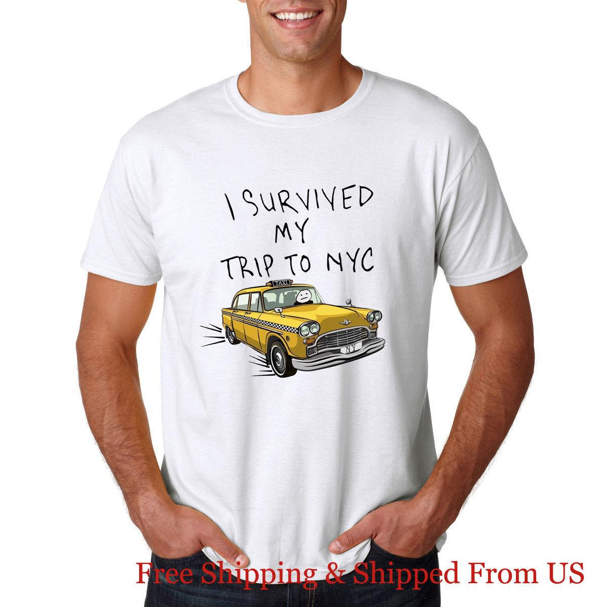 I Survived My Trip To NYC Spiderman Homecoming White T Shirt High Quality  Wholesale 2018 Funny Tee Casual Short Sleeve Of T Shirts Online Buy T Shirts  From ... 2187e8d8b11