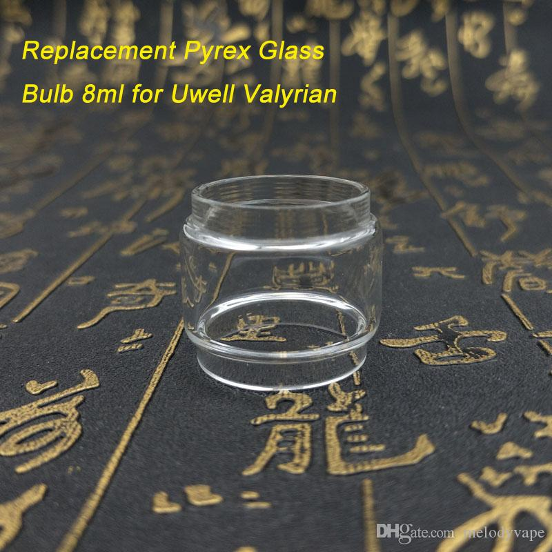 6699efb6f5 Uwell Valyrian Tank 8ml Extended Pyrex Glass Tubes Bulb Type Fat Boy Clear  Color Glass Replacement Tube E Cigarette DHL Free Coil Jig Vape Filament  Winding ...