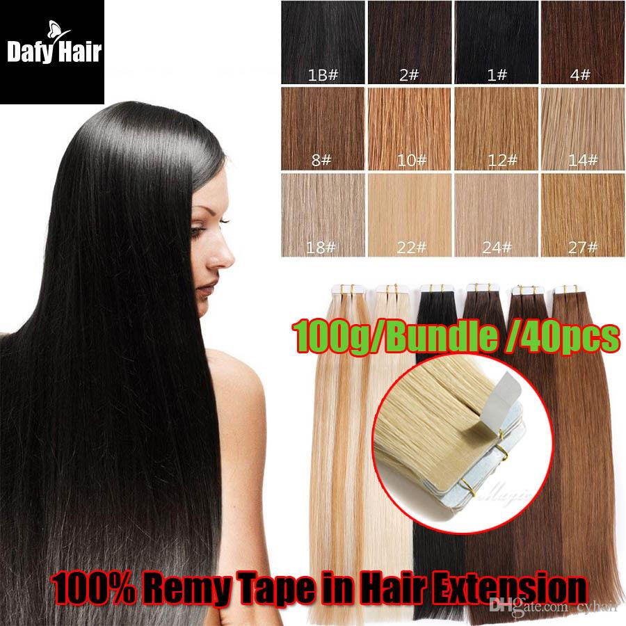 Tape In 100 Remy Human High Quality Hair Extensions 27 Strawberry