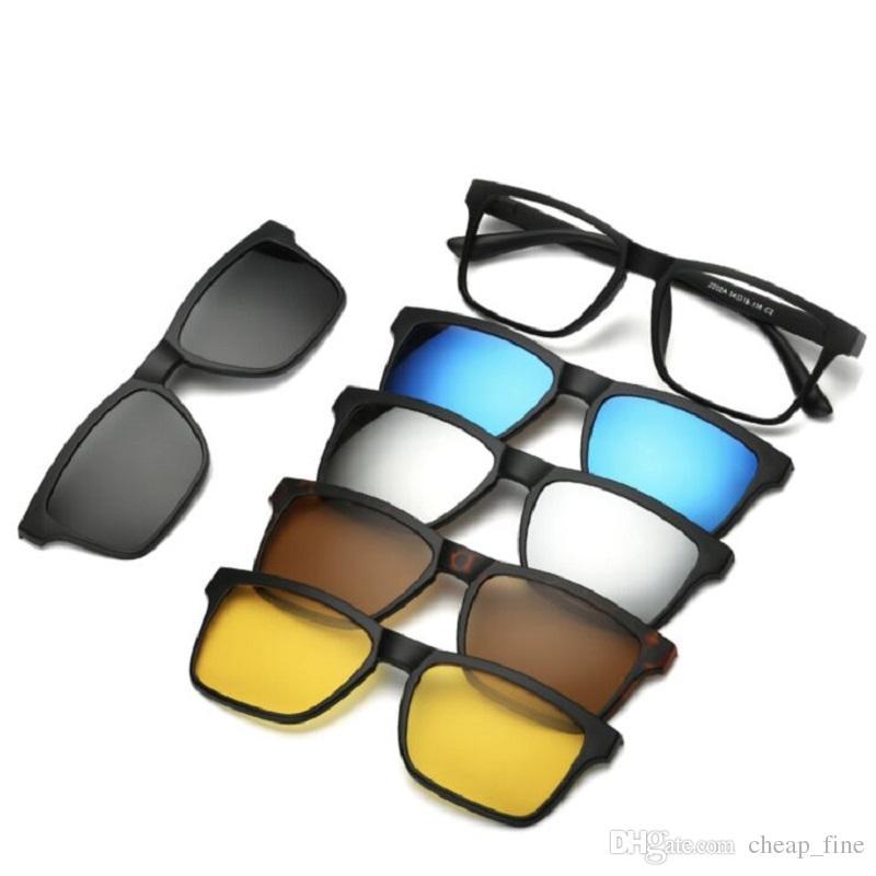 9dd153465d775 Compre Vintage 5 + 1 Conjunto Lente Magnética Swappable Óculos De Sol Das  Mulheres Dos Homens Tr Óculos Clip On Polarizada Óculos De Sol Ímã Óculos  24 ...