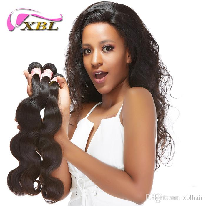 XBL Free Bundles Or Top Lace Closure Human Hair Bundles with Closure Total 4 Pieces Human Hair Extensions