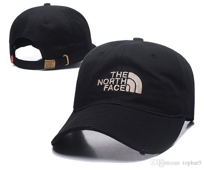 cef539068 2018 Good Fashion North Luxury brand Face hat Dad Hat hiphop golf polose  baseball caps for men and women