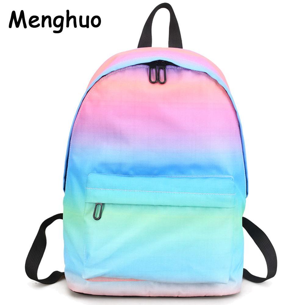 74d21bdbfd Menghuo Newest Women Backpacks 3D Printing Backpack Female Trendy Designer  School Bags Teenagers Girls Men Travel Bag Mochilas Y1890302 Laptop Rucksack  ...