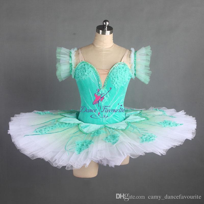 Compre Chicas Graduadas De Color Profesional Tutus De Ballet De Baile  Clásico Personalizar Tutu Competencia Vestido De Rendimiento Disfraces  Pancake Tutu ... c908c94ea46