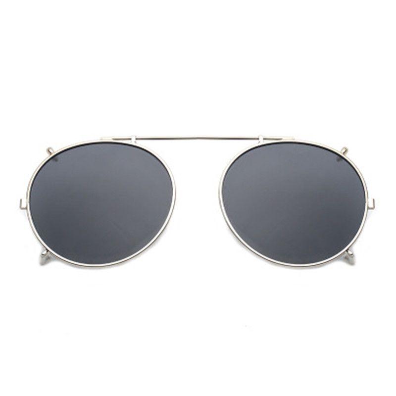 a25a1a2f509 Round Polarized Clip On Myopia Eyeglasses Women Men Oversized Sun ...