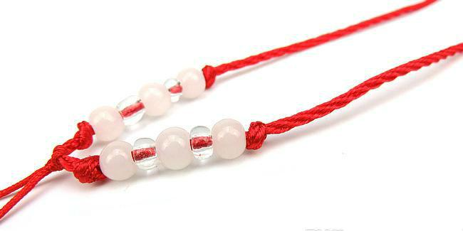 Charm bracelet Handmade Longevity 8 Beads Decorative Best Wish Red String Lucky Bracelet
