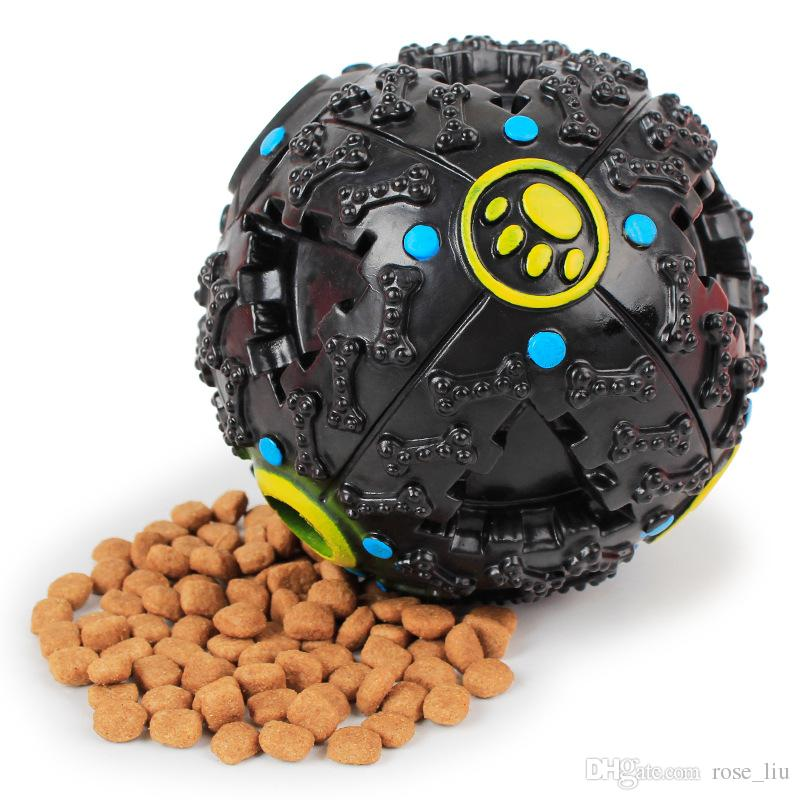 Novo Criativo Cão Brinquedo Escapada Pet Food Ball Dispensador de Som Quente Squeaky Giggle Quack Som Toy Formação Mastigar Bola Pet Suprimentos B