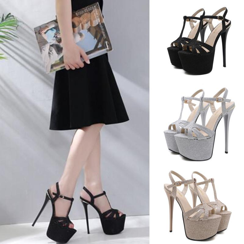 9e24ef7feaa8 Women High Heels Sandals Sexy Gladiator Party Sequined LadiesSequined  Buckles Formal Sandals Heels Gladiator Sandals From Designshoes777