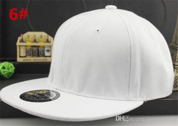 30 unids buena calidad liso sólido En blanco Snapback Sombreros Sólidos Gorras de béisbol Fútbol Gorras Ajustable baloncesto precio barato tapa R158