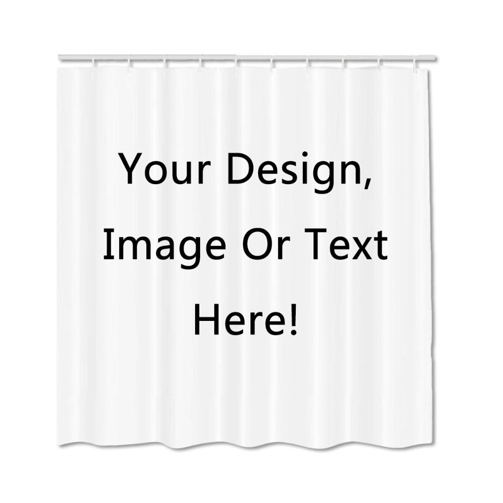 Personalized Shower Curtain Customized Services Private Image Text High Quality Polyester Curtains Home Bathroom UK 2019 From Sophine11