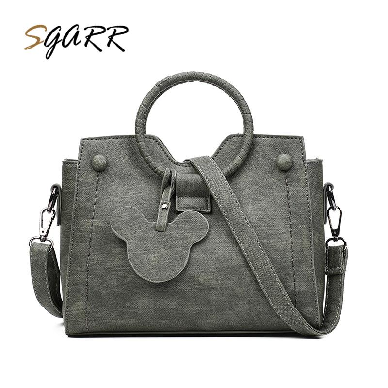 36a617ba10 SGARR Women Handbag Female Shoulder Bag Vintage PU Leather Messenger Bag  Female Crossbody Bags Famous Brand Designer Bags Toting Leather Backpack  Purse From ...