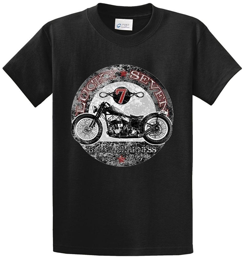 T Shirt Printing Company Crew Neck Men Novelty Short Lucky Seven