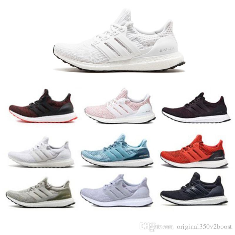 5150a431c4f7db Top Quality Mens Shoes New Ultraboost 4.0 Core Primeknit Runner Ultraboost  Running Designer Shoes Luxury Sneakers Lightweight Running Shoes Trail  Running ...