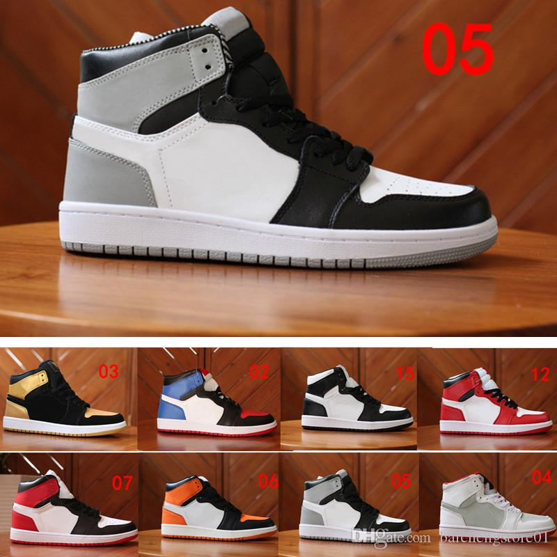 buy popular c5aa3 fed95 Compre Nike Air Jordan 1 Aj1 Retro Barato 1 Top 3 Banned Bred Red Chicago Og  Royal Mid Liebre Zapatos De Baloncesto Para Hombre Zapatillas Shattered ...