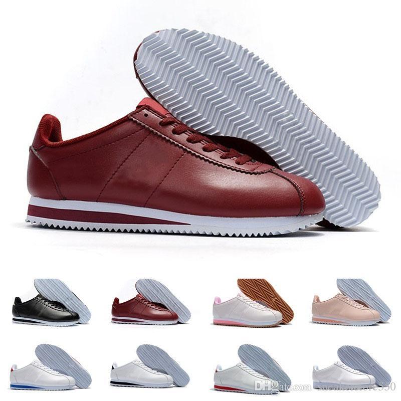 Compre Nike Classic Cortez Clássico Cortez Couro Básico Sapatos Casuais  Barato Moda Homens Mulheres Black White Red Golden Tênis De Skate Tamanho  36 44 De ... 9a12169b168a7