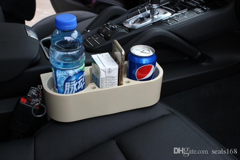 3 IN1 Universal Black Cup Holders Car Storage Box Drinking Bottle Phone Can Mug Mount Stand Racks Holder Organization HH7-350