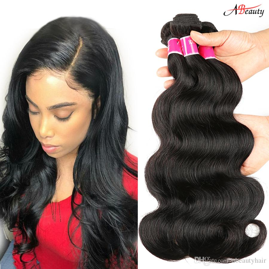 Hair Weaves Human Hair Weaves Brazilian Human Hair Weave Bundles Deal Ocean Wave 3 Bundles Human Hair Estentions Double Weft Natural Color Remy Hair Weaving
