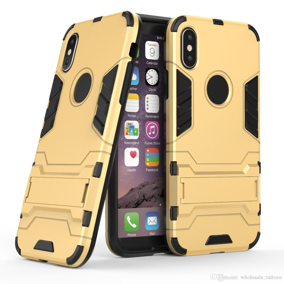 finest selection cc160 95716 Iron Man Heavy Duty Armor Phone Case Sport Cover Shockproof Strong With  Kickstand For LG V10 V20 V30 Stylo 3 G4 Pro Stylo 3 Plus LS777