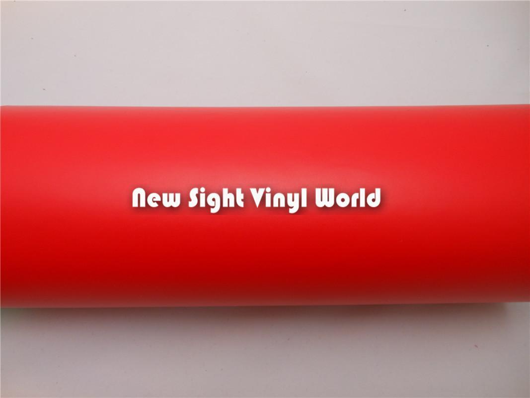 Alta Qualidade Red Matte Vinyl Car WrapPing Filme Bolha Livre Para Adesivos de Carro Tamanho: 1.52 * 30 m / Roll