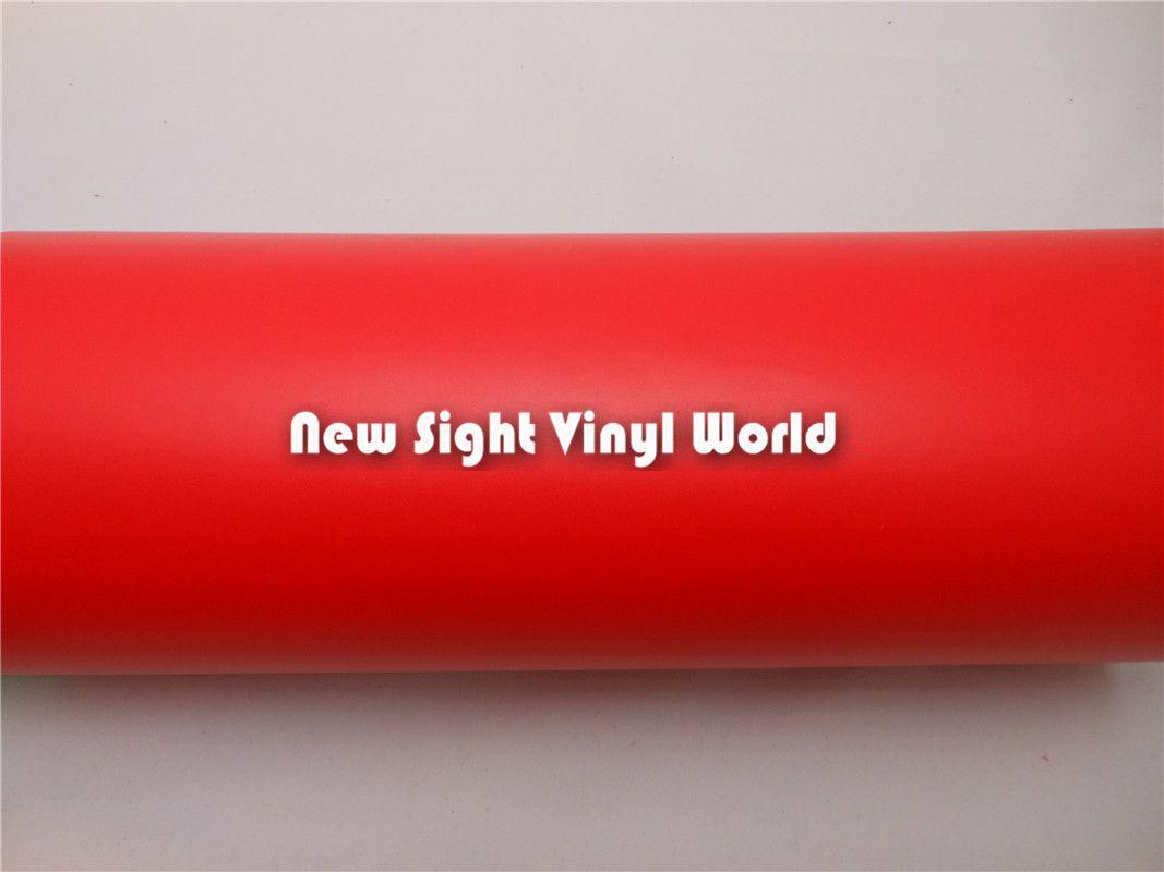 Bolla del film WrapPing auto rossa opaca in vinile di alta qualità libera adesivi auto Dimensioni: 1.52 * 30m / Roll