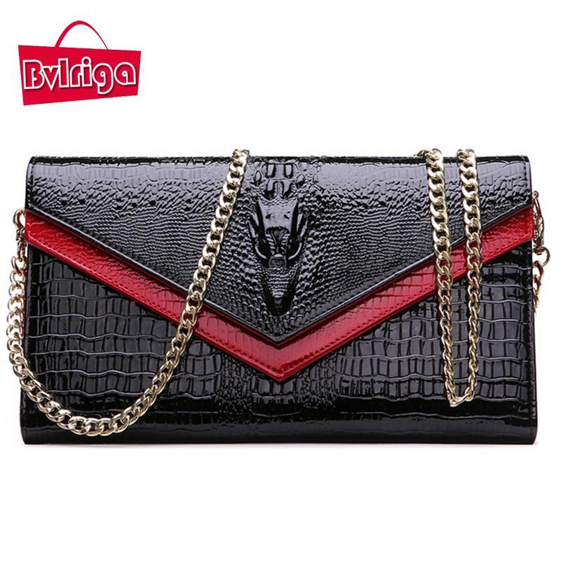 BVLRIGA Crocodile Genuine Leather Bag Handbag Women Messenger Bag Famous  Brands Crossbody For Women Shoulder Chain Small Leather Bags For Women  Shopper Bags ... 6953a49852352