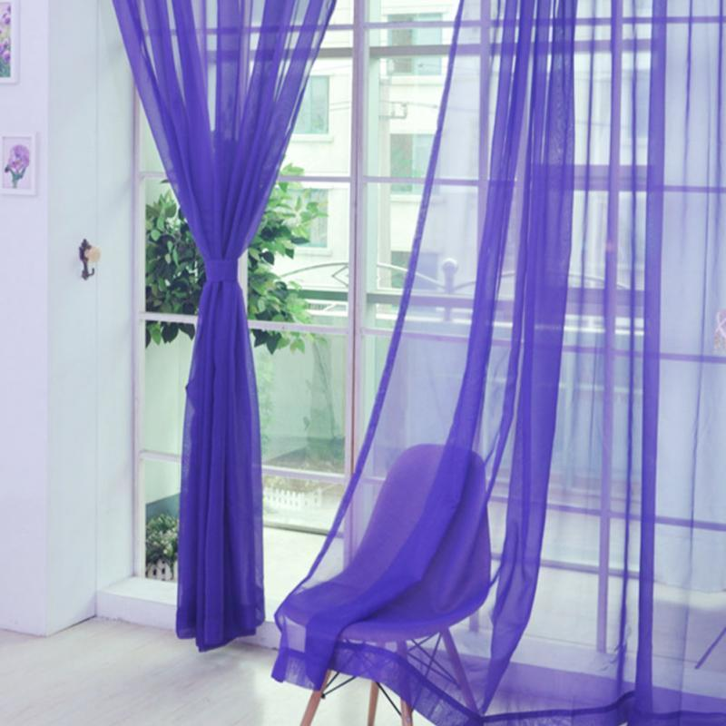 Panel de ventana de inicio Curtainf para sala de estar 100% nuevo Divider Yarn String Curtain Strip Drape Cortinas 11 colores 200cm X 100cm