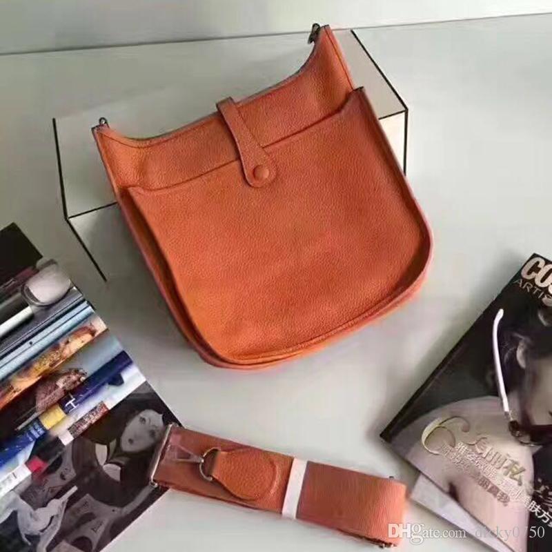 2018 Wholesale echtes Rindleder echtes Leder Mode Umhängetasche Mini Handtaschen Polychromatische Einkaufstasche Geldbörse lässig Umhängetasche