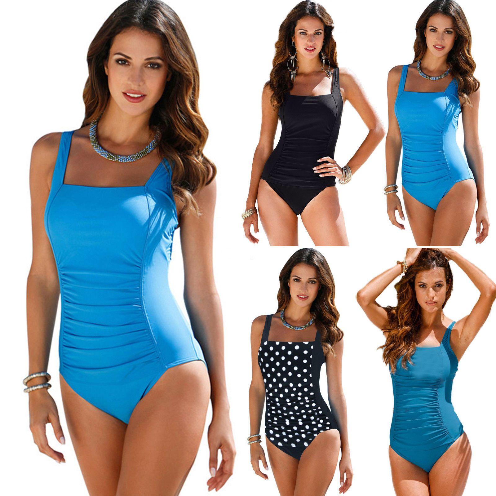 40ebf8d249 2019 US FAST SHIPPING 2018 Women One Piece Monokini Push Up Bikini Swimwear  Swimsuit Padded Bathing Suit Plus Size From Plazahere