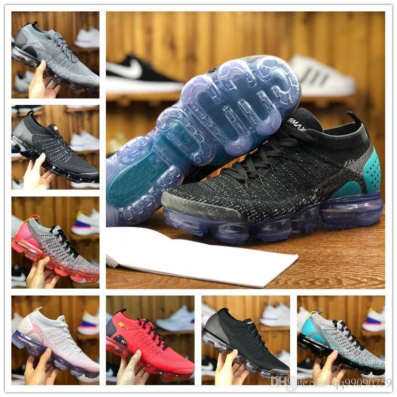 2018 Vapormax 2.0 Flagship Running Shoes Men Women New White Black Grey  Blue Pink Knitting Designer Cheap Basketball Air Sneakers Running Shoes  Sports Shoes ... 36e901162