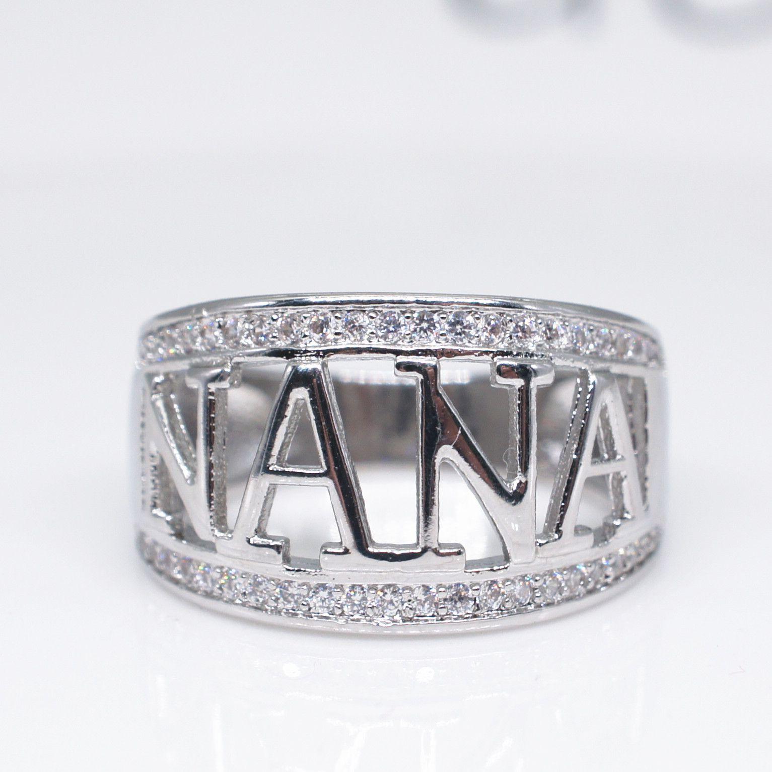 Großhandel Rose Gold Ringe Weihnachtsgeschenke Nana Großmutter Ring ...