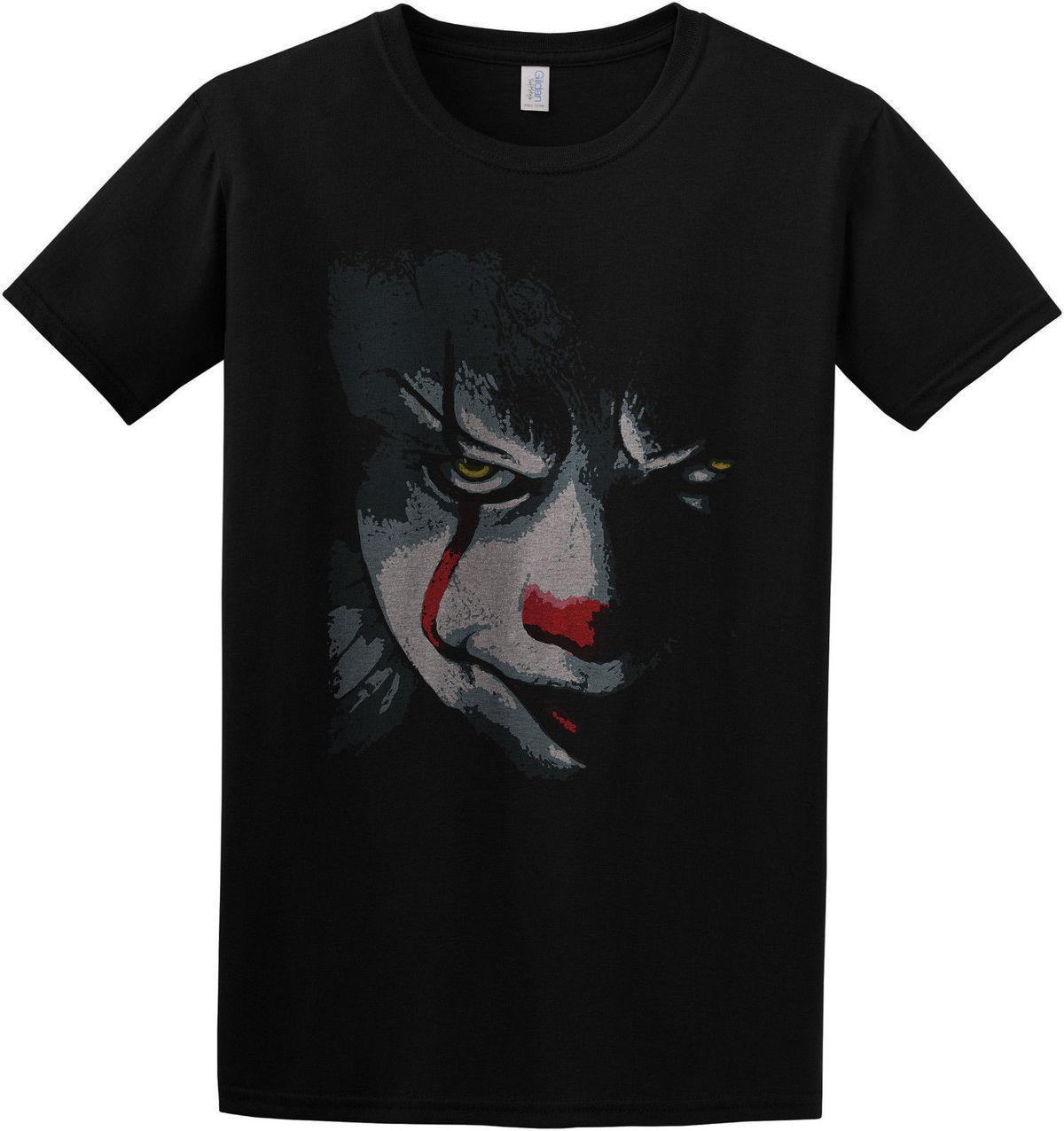 Pennywise It 2017 Movie Inspired Creepy Scary Clown T Shirt Top S
