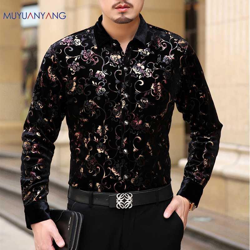 e4984086138 Mu Yuan Yang 2018 Fashion Autumn and Winter Men s comfortable Formal Long  Sleeve Shirt Brand Man Clothes Big Size 3XL 50% off