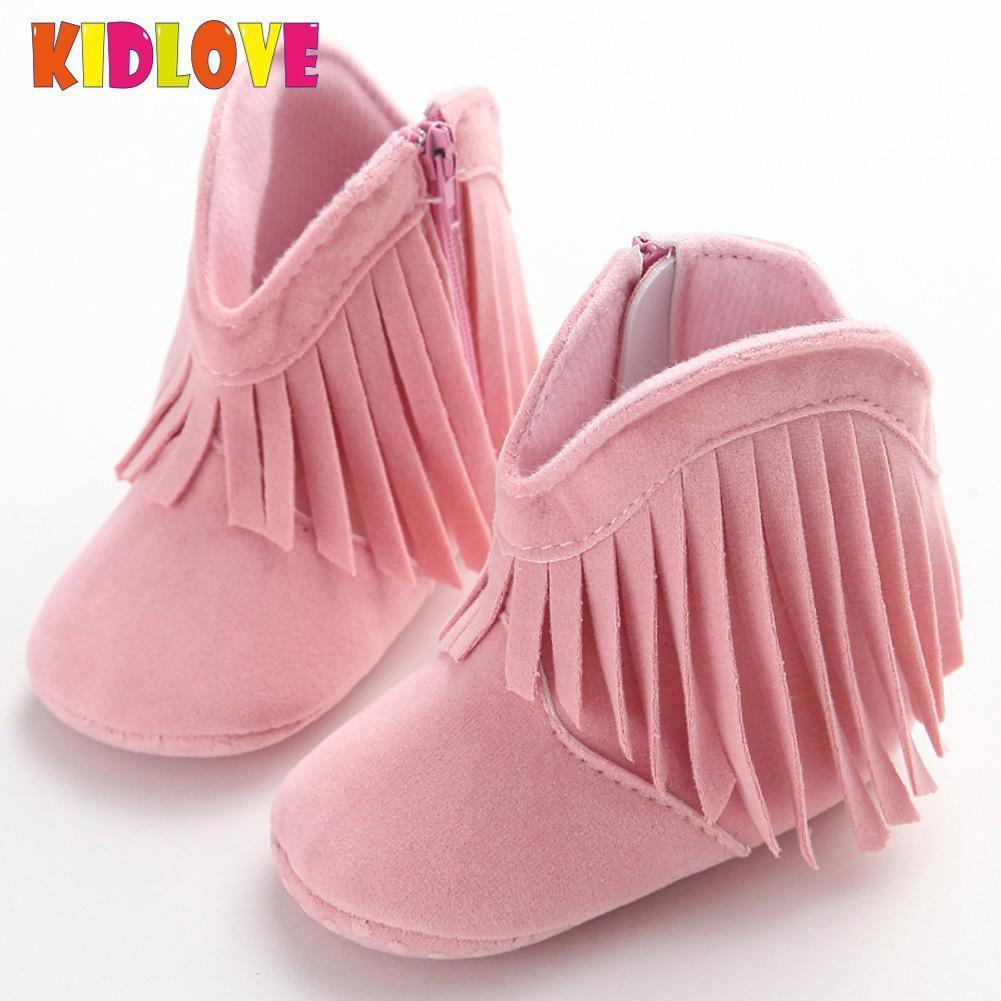 d5c538b7665 Kidlove Baby Suede Autumn Tassel Shoes Cute Infant Baby Boots Sticky Rubber  Prewalker Girl S Shoes 11 13cm SAN0 Kids Casual Boots Girls Black Rain Boots  ...