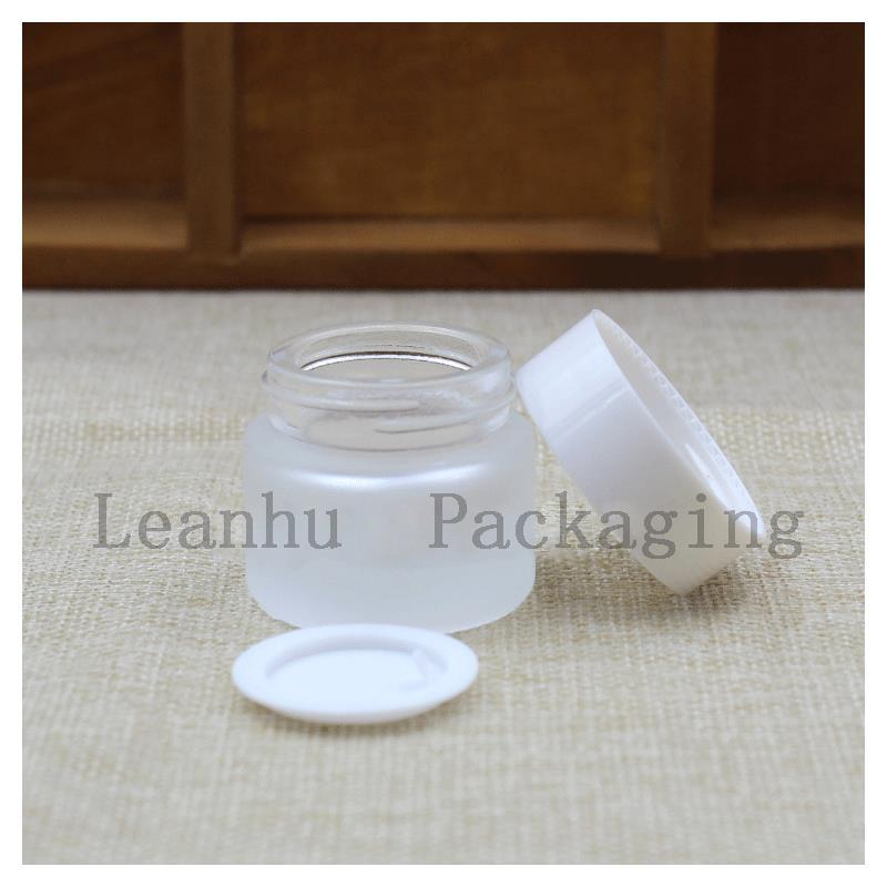 5 g of Frosted Glass Jars With The Lid of The Black/White Beauty Cream Bottle Cosmetics Packing Bottle ,Empty Glass Bottle