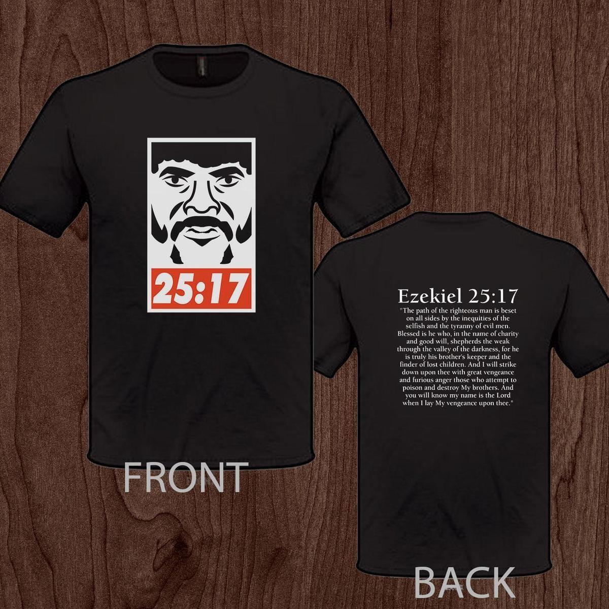 ddb8fe15 Obey Samuel L Jackson Pulp Fiction Ezekiel 25 17 Tee S M L XL 2XL 3XL T  Shirt T Shirt Creator Tee Shirt Design From Amesion03ljl, $12.08  DHgate.Com