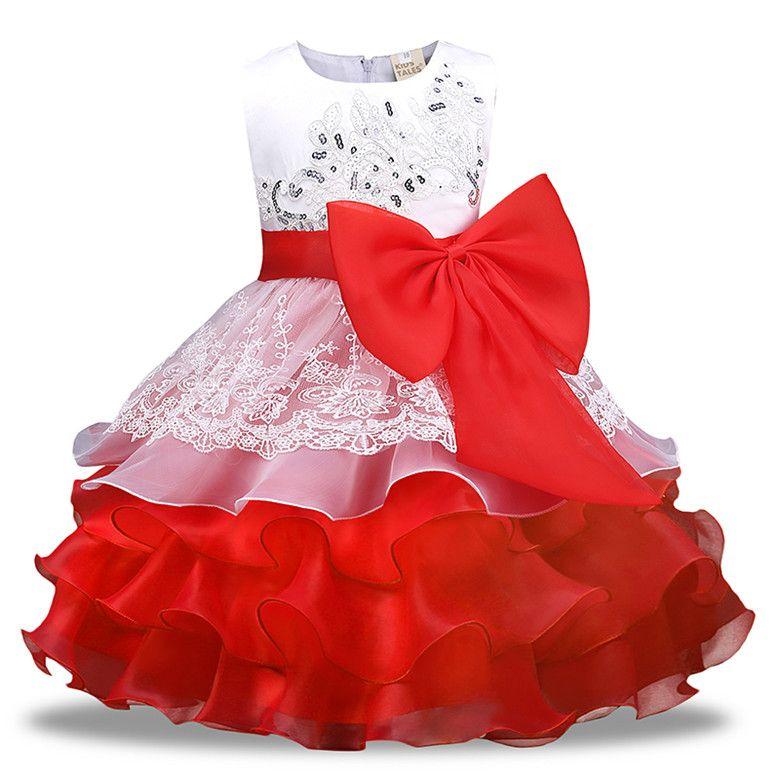 171585c1abbbf Acheter Robe De Princesse Pour Les Filles Avec Des Vêtements D été  Paillette Anniversaire De Mariage Robes Bébé Filles Costume D enfants Pour  Les ...