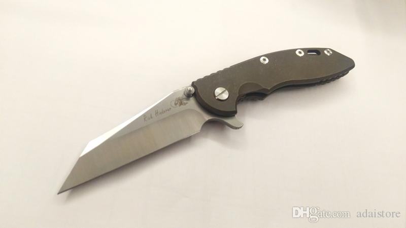 جديد الكمال ريك Hinderer مخصص XM-18 فراج wharncliffe زعنفة الطي سكين m390 الصلب البرونزية ti مقبض أدوات التكتيكية بقاء edc