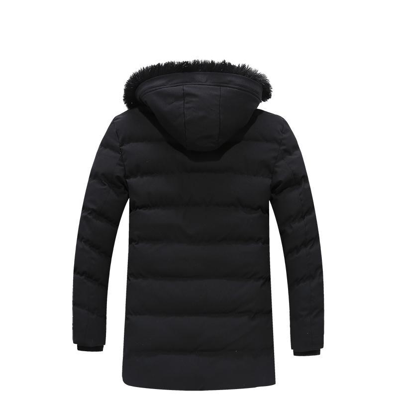 Otoño / invierno hombre de mediana edad abrigo de algodón masculino más terciopelo espesar abajo chaqueta informal ejército parkas L-4XL 3081