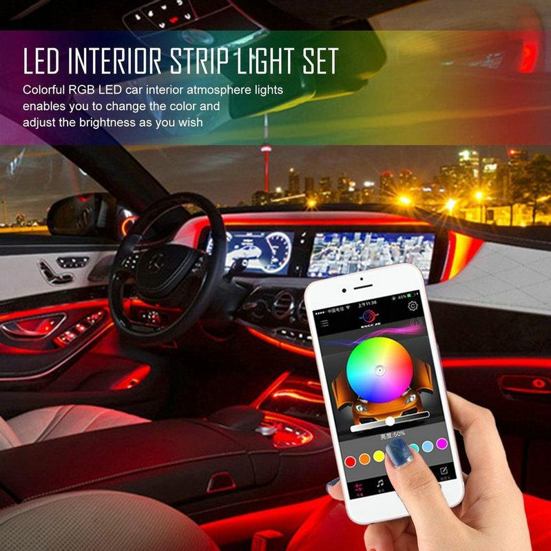 2019 Car Styling Sound Active Rgb Led Car Interior Neon Strip Light