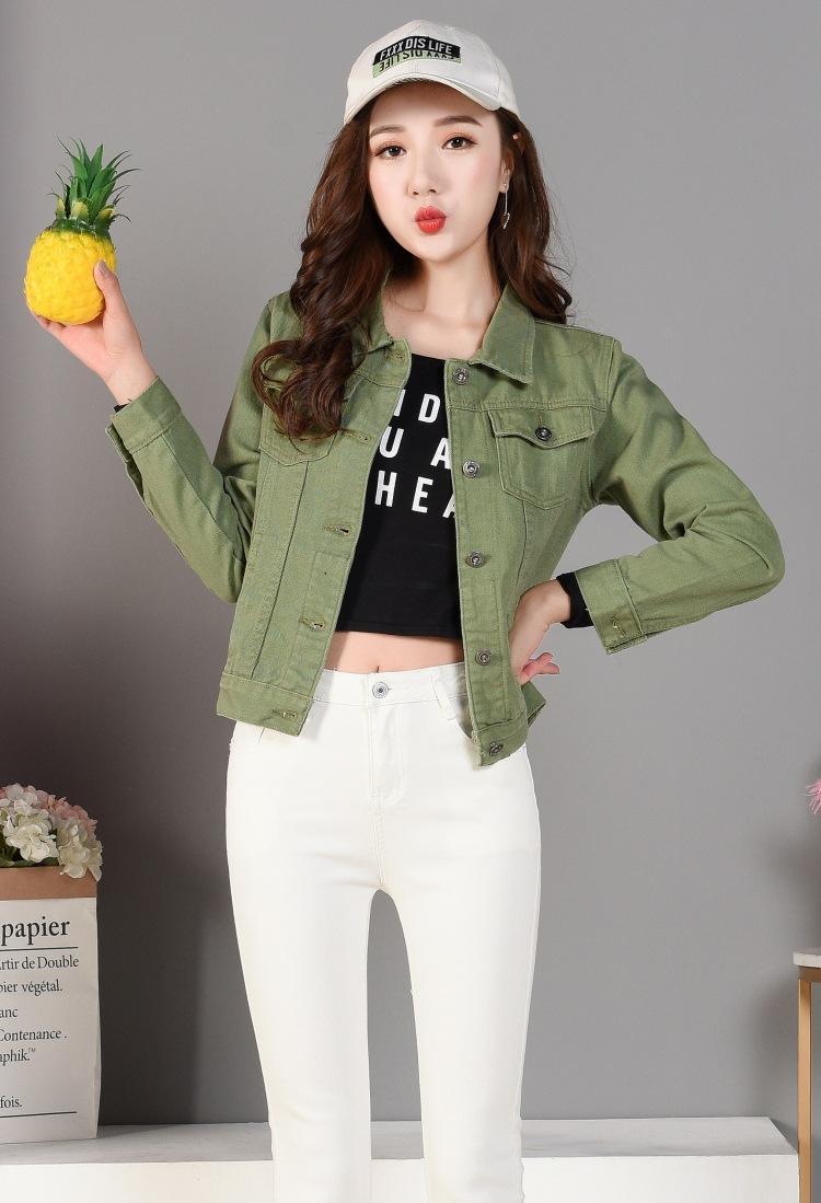 Jeansjacke Frauen kurze Jeans Mantel Damen Jacken Tops Cowboy Jacke Kragen Slim White Black Jeans Frauen hohe Qualität