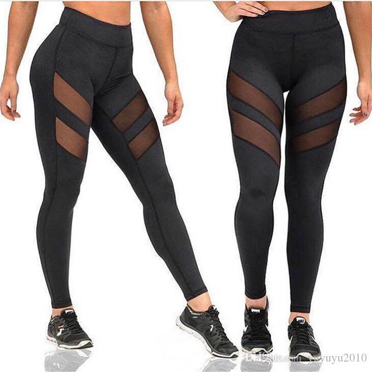 3af6a49e12e 2018 Athleisure Leggings for Women Mesh Splice Fitness Leggins Slim ...
