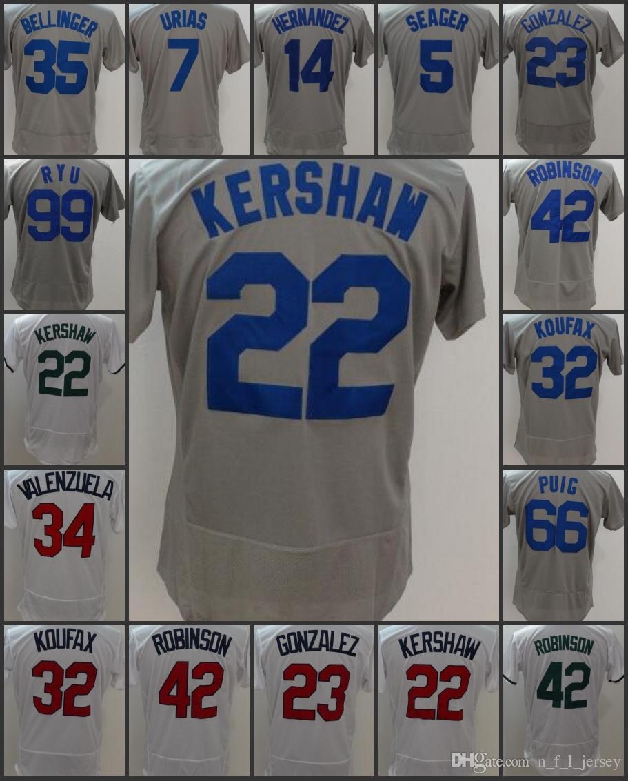 1c109b1b0 2019 Los Angeles Dodgers Men Jerseys  23 Adrian Gonzalez 22 Clayton Kershaw  5 Corey Seager 99 Hyun Jin Ryu 66 Yasiel Puig Woman Youth Jersey From ...
