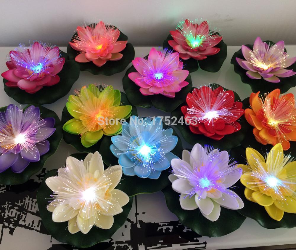 2018 Artificial Led Optic Fibre Waterproof Fake Pond Flowers Light