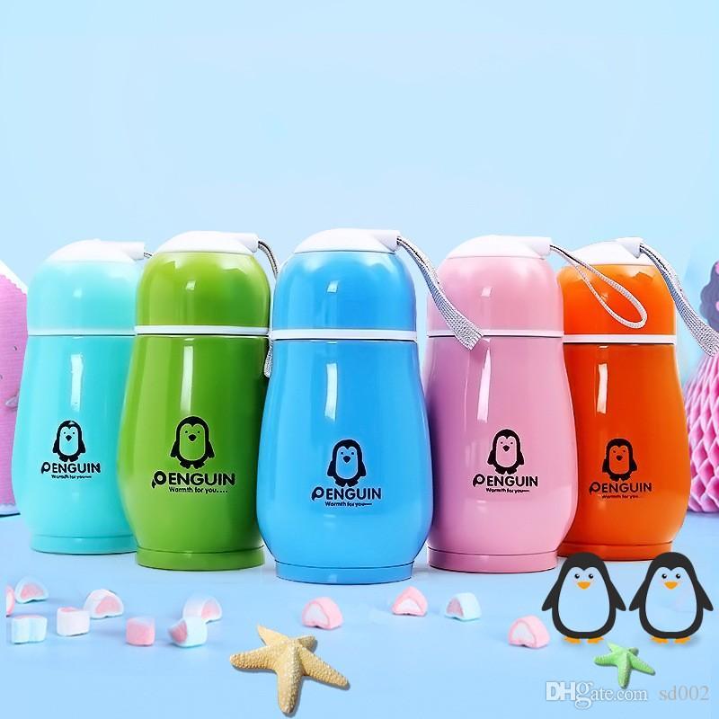 95e11238a0b Penguin Vacuum Cup Stainless Steel Kids Travel Outdoor Cartoon Mug Children  Water Bottle Gift Tumber Drinkware 4 6zt Bb Insulated Water Bottles Kids  Bpa ...